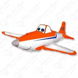 Фигурный шар - Гоночный самолет, оранжевый.