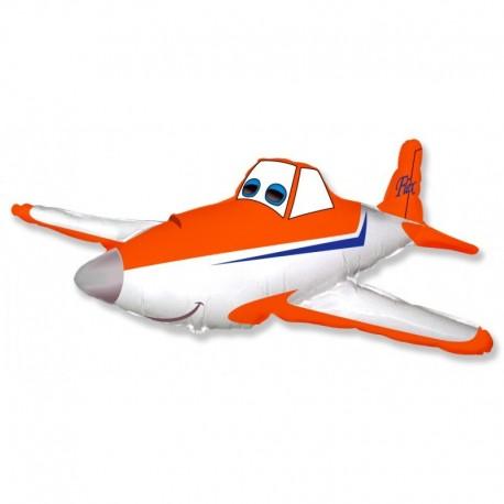 Фигурный шар - Гоночный самолет, оранжевый. 81 см.