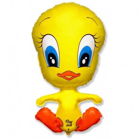 Фигурный шар - утёнок, желтый. 81 см.