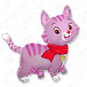 Фигурный шар - Любимый котенок, фуше.