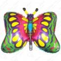 Фигурный шар - бабочка зеленая.