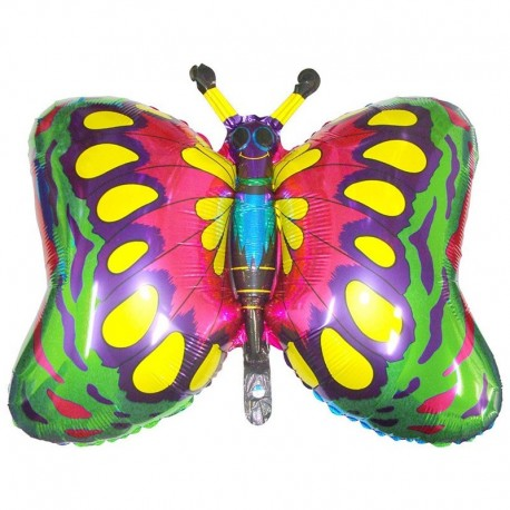 Фигурный шар - бабочка зеленая. 55 см.