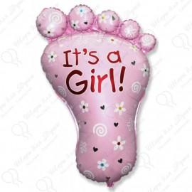 Фигурный шар - ступня девочки.
