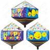 Фигурный шар - Циркон, майлики С Днем Рождения. 71 см.