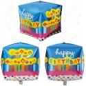 Фигурный шар - Циркон, свечки С Днем Рождения.