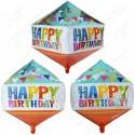 Фигурный шар - Циркон, гирлянды С Днем Рождения.