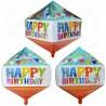 Фигурный шар - Циркон, гирлянды С Днем Рождения. 71 см.
