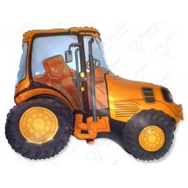 Фольгированный шар - Трактор, оранжевый.