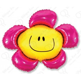 Фигурный шар - солнечная улыбка, фуше.