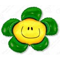 Фигурный шар - солнечная улыбка, зеленая.