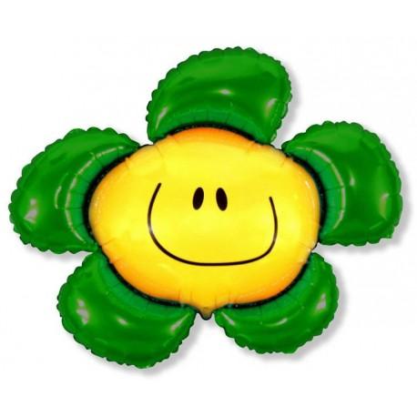 Фигурный шар - солнечная улыбка, зеленая. 104 см.