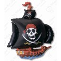 Шар - пиратский корабль, черный.