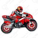 Фигурный шар - мотоцикл, красный.