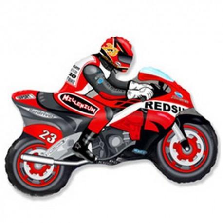 Фигурный шар - мотоцикл, красный. 84 см.