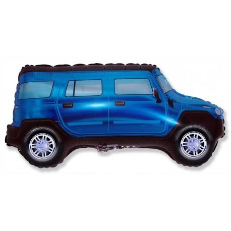 Фигурный шар - машина, синяя. 86 см.