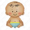 Фигурный шар - малыш мальчик.