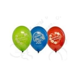 Воздушный шар 25 см любимой маме, ассорти, пастель.