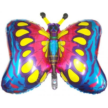 Фигурный шар - бабочка синяя. 55 см.