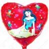 Фольгированное сердце - Белоснежка. 46 см.
