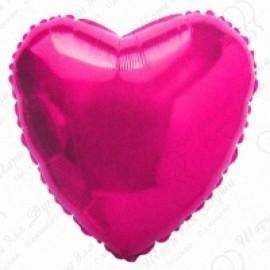 Фольгированное сердце, фуше, 81см.