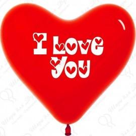 Воздушный шар сердце, любовь. 41 см.