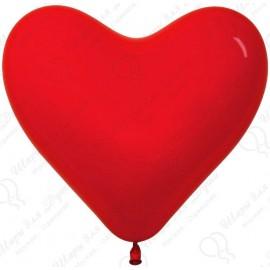 Воздушный шар Сердце, красный, 41 см.