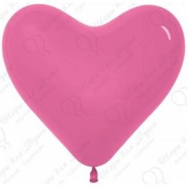 Воздушный шар Сердце, фуше. 41 см.
