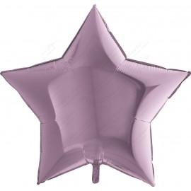 Фольгированный шар 86 см лиловая Звезда.