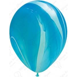Воздушный шар - супер агат синий, 30 см.