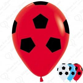 Воздушный шар 30 см футбольный мяч, ассорти, пастель.