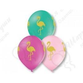 Воздушный шар Фламинго, пастель, 38 см.