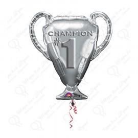 Фигурный шар-кубок чемпиона, серебренный, 86 см.