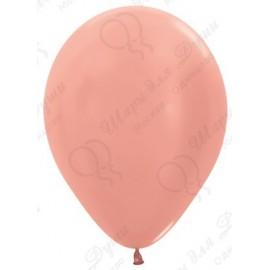 Воздушные шары - Розовое золото, металлик, 30 см.