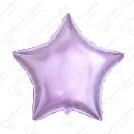 Фольгированный шар 46 см Звезда сиреневая.