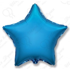 Фольгированный шар 86 см Звезда синяя.
