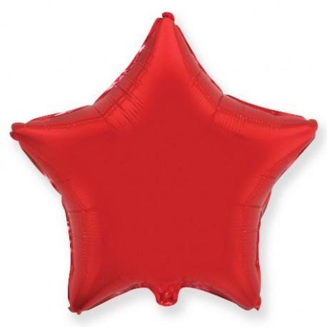 Фольгированный шар - Звезда красная. 81 см.