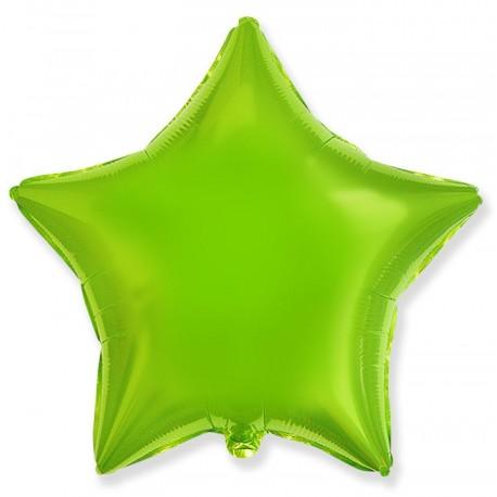 Фольгированный шар - Звезда лайм. 46 см.