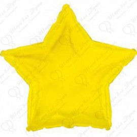 Фольгированный шар - Звезда желтая, 81 см.