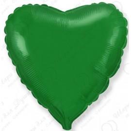 Фольгированное сердце - зеленое, 46 см.