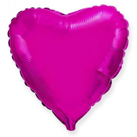 Фольгированное сердце пурпурное, 46 см.