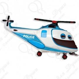 Фигурный шар - вертолет полиция, 99 см.