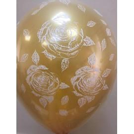 Воздушный шар стеклянный, розы, 30 см.