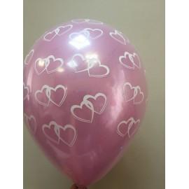 Воздушный шар стеклянный, сердца, 30 см.