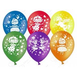 Воздушный шар  30 см для девочек, ассорти, пастель.
