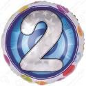 Фольгированный шар - цифра 2.