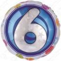 Фольгированный шар - цифра 6.
