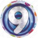 Фольгированный шар - цифра 9.