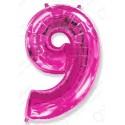 Фольгированная цифра 9.