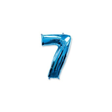 Фольгированная цифра 7, ярко-синяя. 102 см.