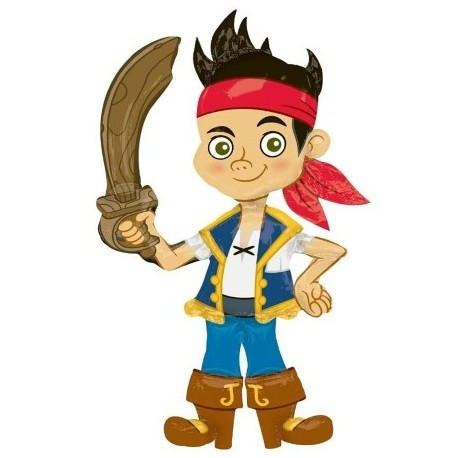 Шар ходячая фигура - Джейк пират. 190 см.